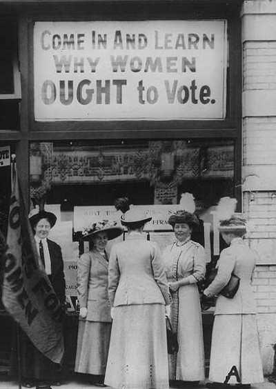 a history of the womens suffrage movement Explore the histories and places that tell the story of women's suffrage and gender equality the long road to women's suffrage the struggle for women's suffrage was a campaign which began in the drawing rooms of london and manchester in.