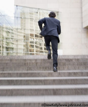 Man-Running-up-stairs