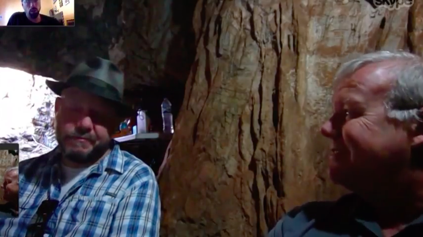 Video: An Impromptu Skype Call with Lee Berger and John Hawks from inside the Rising Star Caves as They Excavated More Homo naledi Fossils